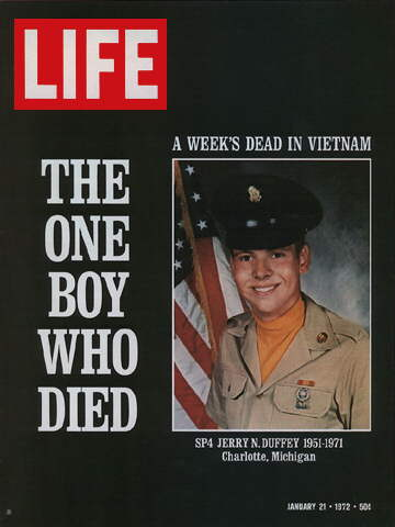 SINGLE U.S. VIETNAM CASUALTY IN A WEEK