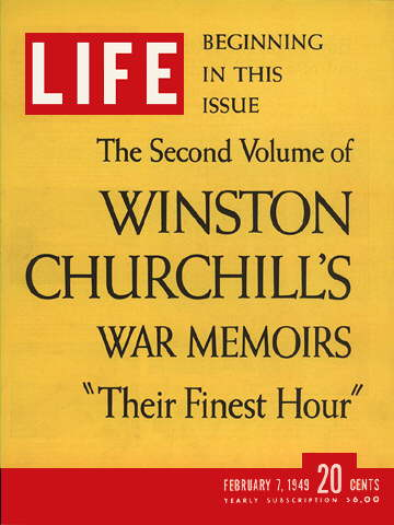 CHURCHILL'S MEMOIRS