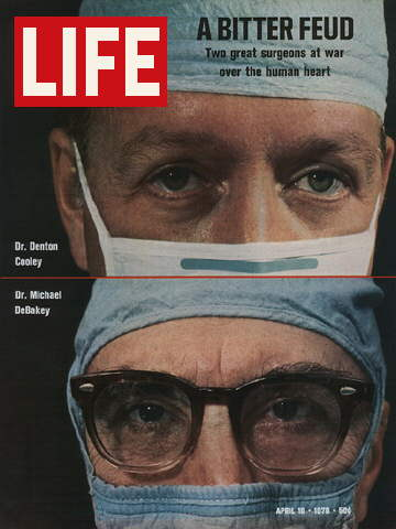 DRS. DENTON COOLEY AND MICHAEL DEBAKEY