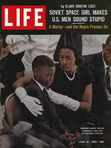 MEDGAR EVERS'S WIDOW AND SON