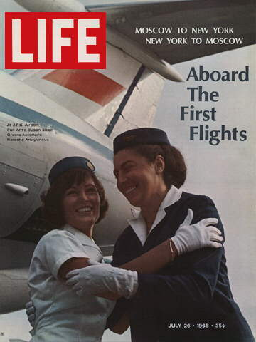 AMERICAN AND SOVIET FLIGHT ATTENDANTS