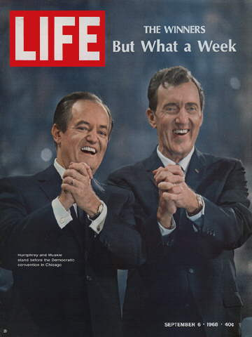 HUBERT H. HUMPHREY AND EDMUND MUSKIE