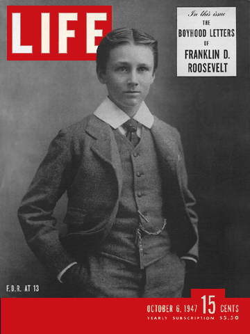 FRANKLIN D. ROOSEVELT AT 13