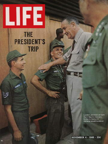 PRESIDENT JOHNSON GOES TO VIETNAM