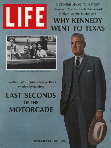 COMPOSITE: GOVERNOR JOHN CONNALLY AND THE KENNEDY'.