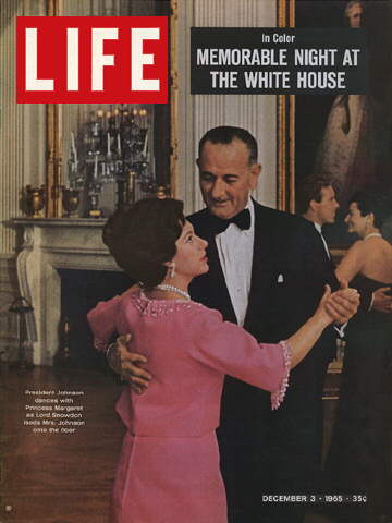 PRESIDENT JOHNSON WITH PRINCESS MARGARET